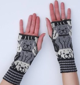Green 3 Apparel Repeating Dog Handwarmers