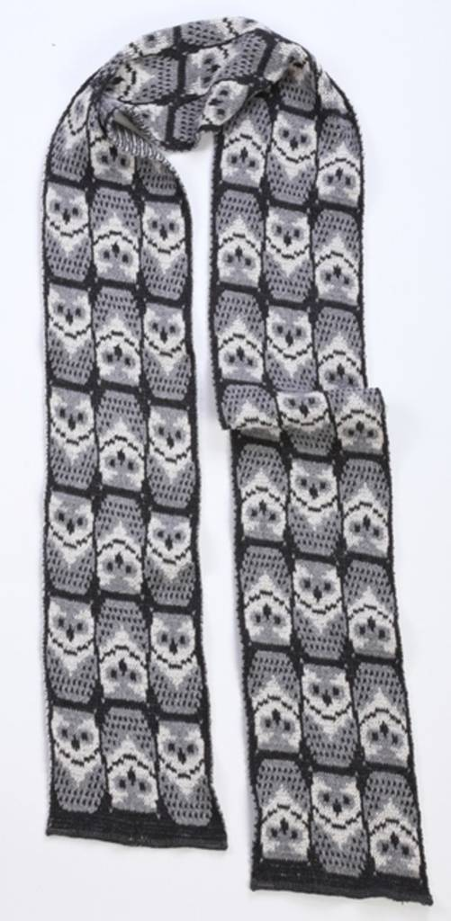 Green 3 Apparel Repeating Owl Scarf