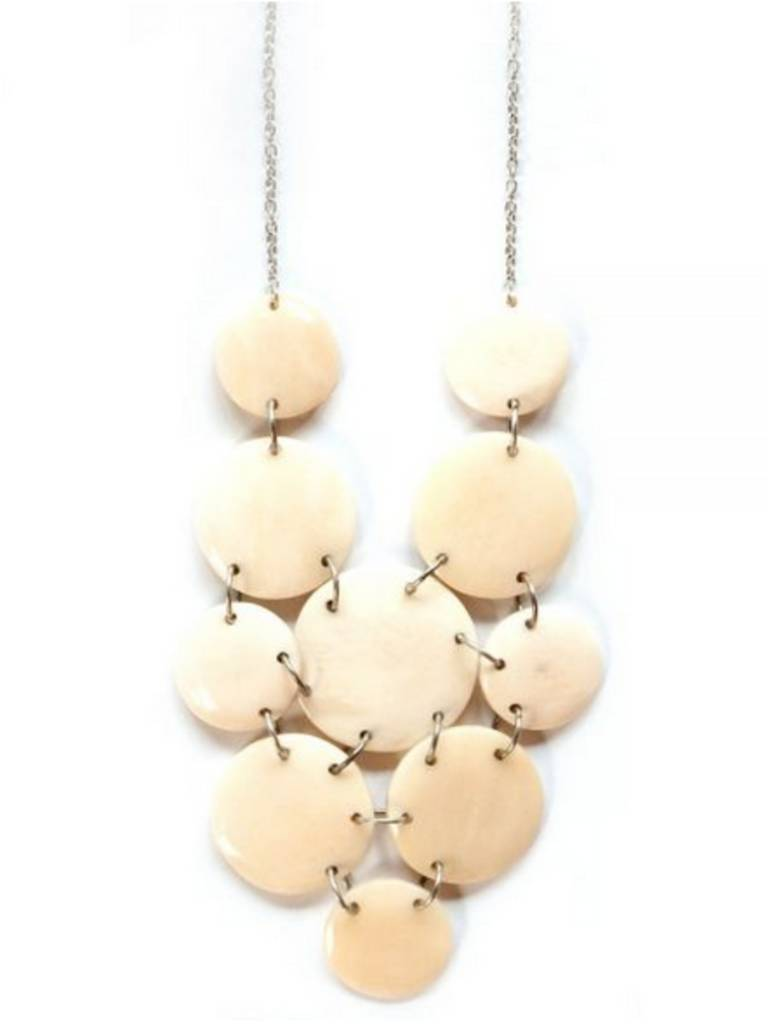 Mata Traders White Skipping Stone Necklace