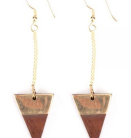 Mata Traders Trailing Triangle Earrings
