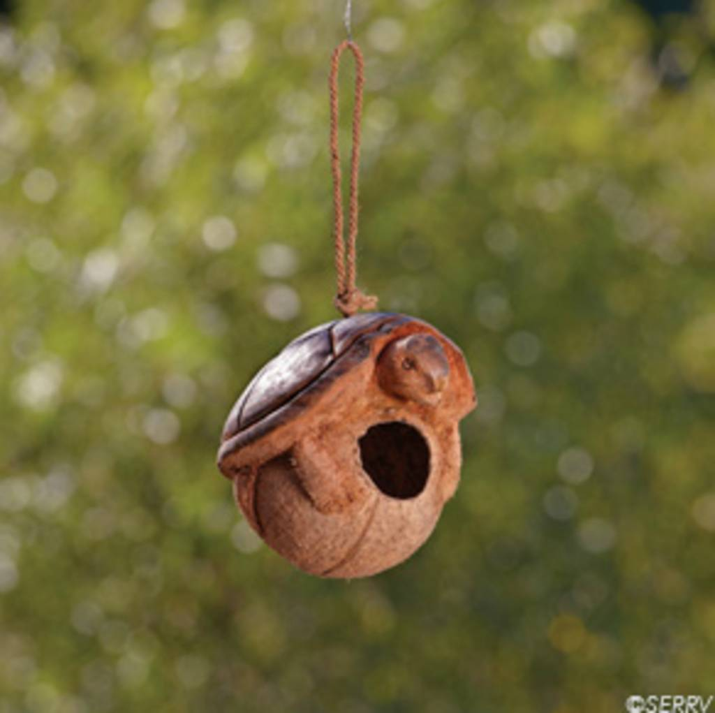 SERRV Turtle Coconut Birdhouse