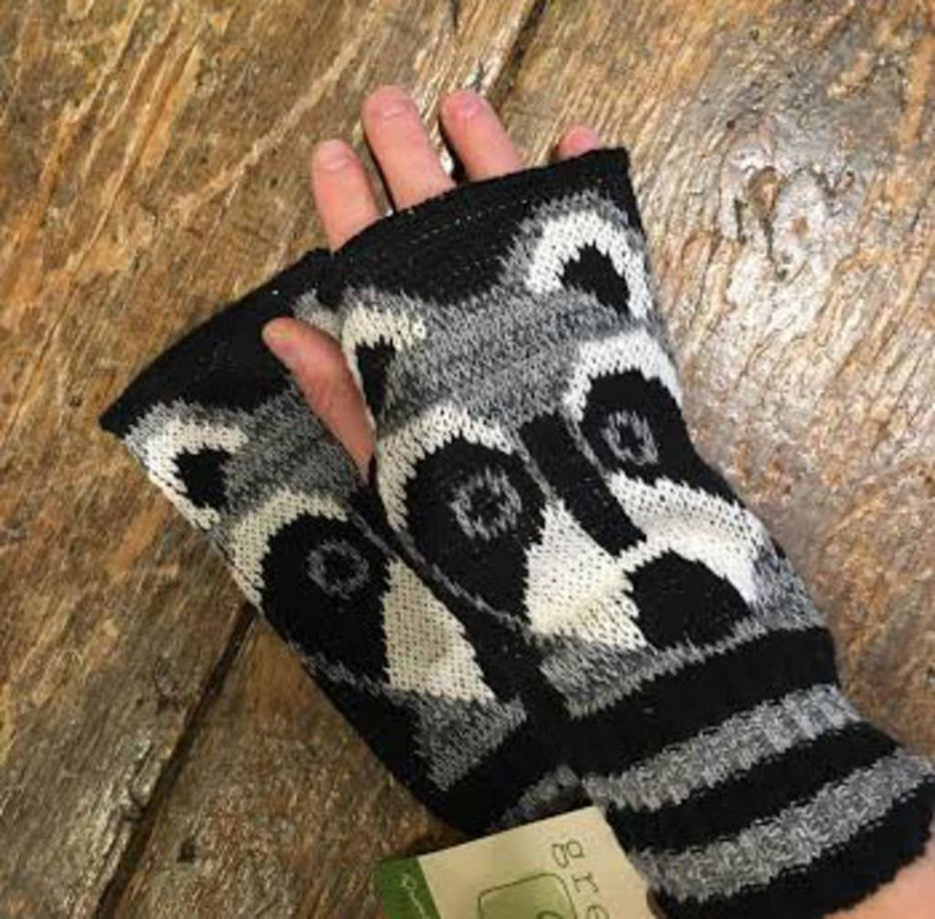 Green 3 Apparel Raccoon Handwarmers