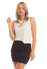 Synergy Ruched Mini Skirt
