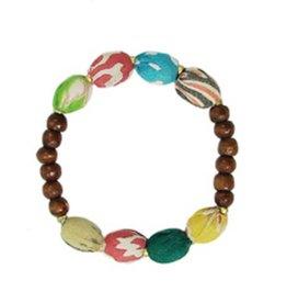 WorldFinds Kantha/Wood Bracelet