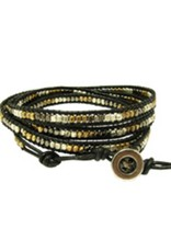 WorldFinds Metallic Wrap Cord Bracelet