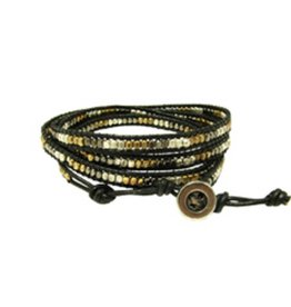 WorldFinds Metallic Wrap Cord Bracelet