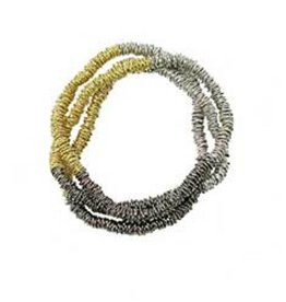WorldFinds Metallic Stripe Necklace/Bracelet