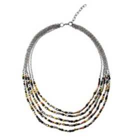 WorldFinds Ombre Metallic Tiered Necklace