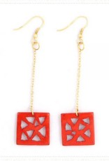 Mata Traders Triangle Drop Earrings