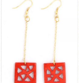 Mata Traders Triangle Drop Earrings