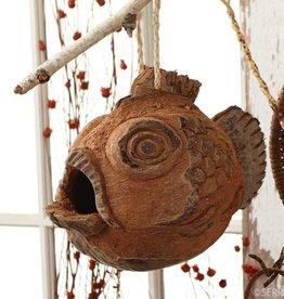 SERRV Fish Coconut Birdhouse