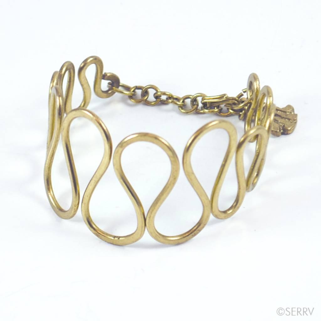 SERRV Oval Loops Brass Bracelet