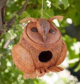 SERRV Owl Coconut Birdhouse