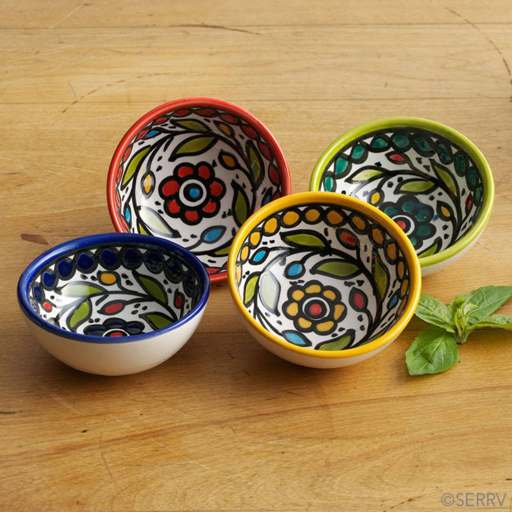 Hand-Painted Dipping Bowls each
