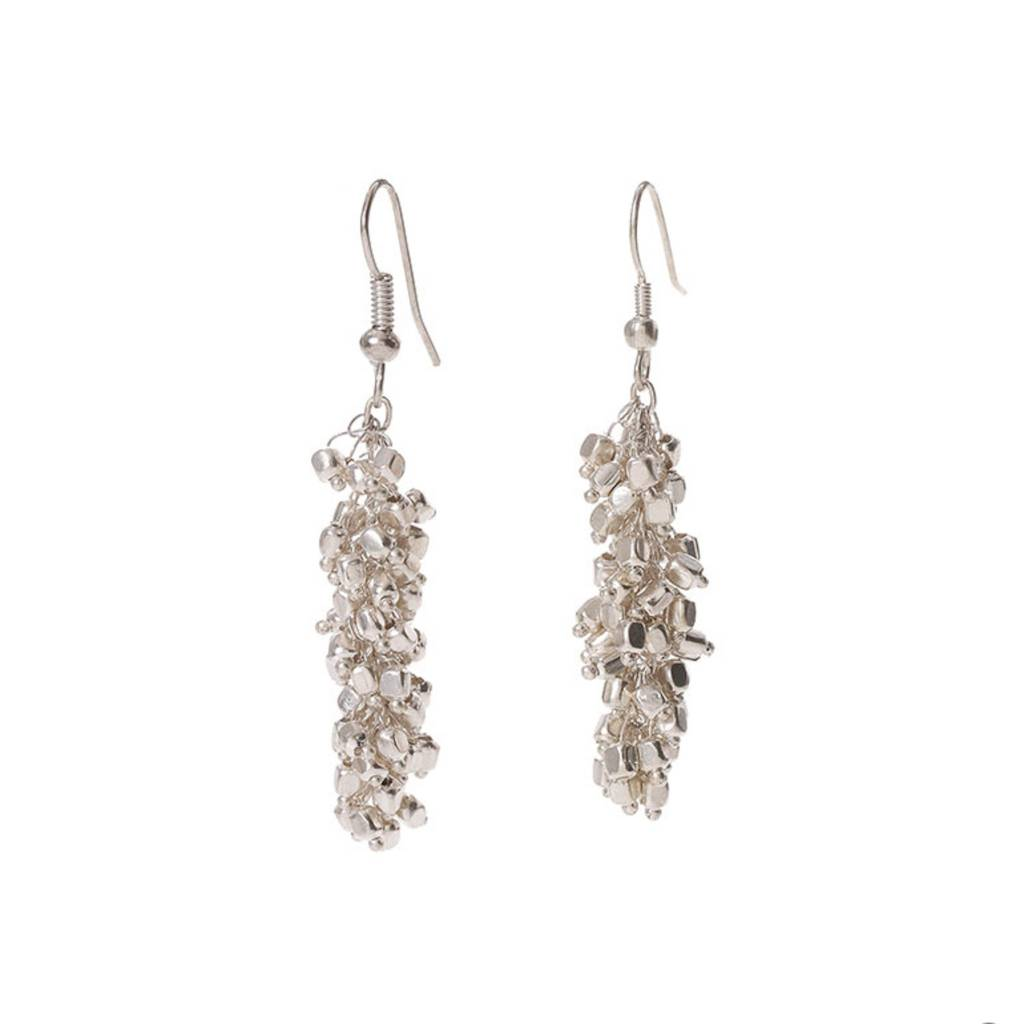 SERRV Silver Cluster Earrings