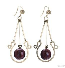 SERRV Violet Teardrop Earrings