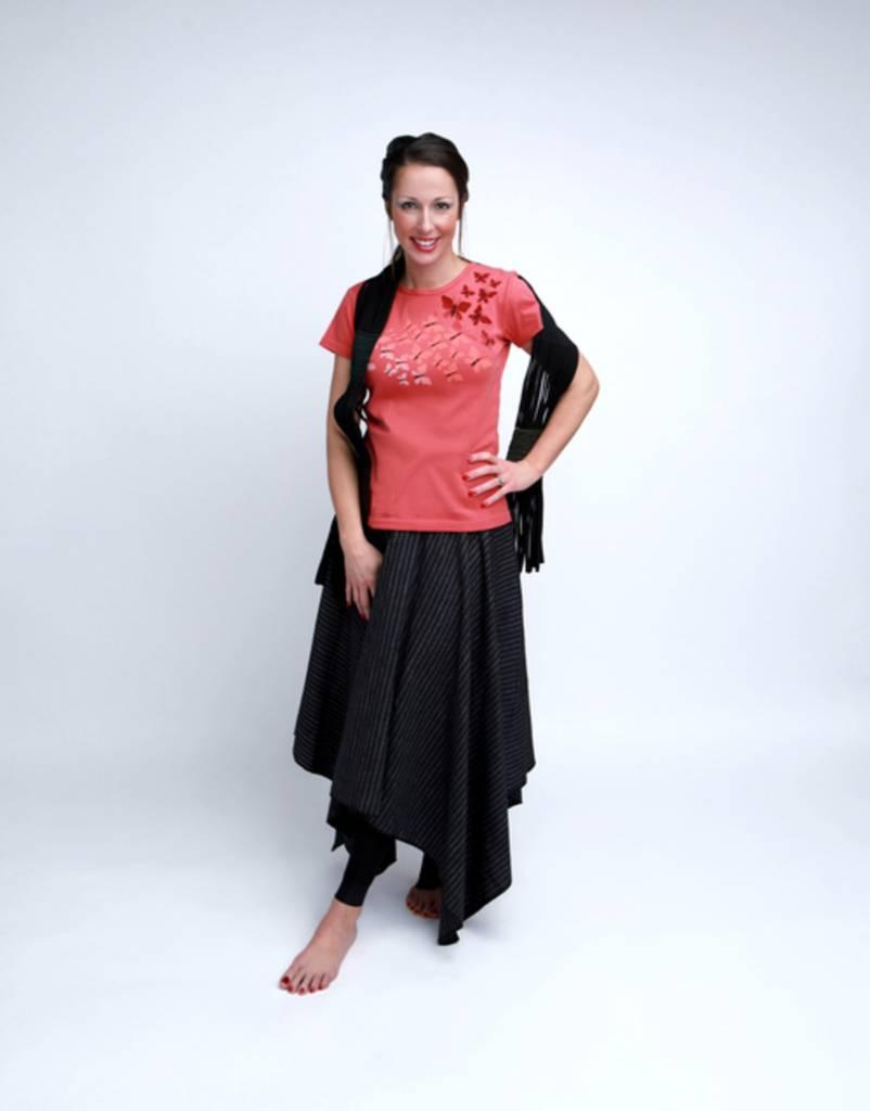 Green 3 Apparel Handkerchief Skirt