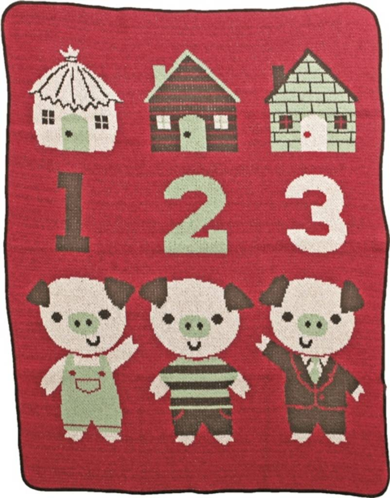 Green 3 Apparel 3 Little Pigs Jr. Throw