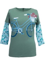 Green 3 Apparel Bicycle 3/4 Sleeve