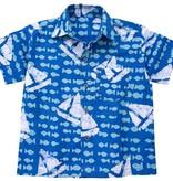 Global Mamas Blue Sailing Button Up