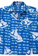 Global Mamas Blue Sailing Button Up