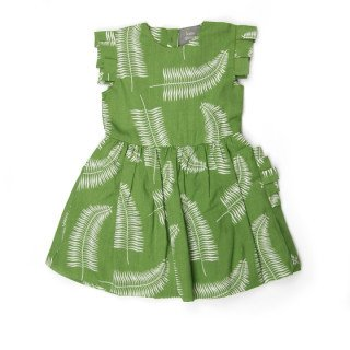 Kate Quinn Organics Pleated Arm Ruffle Pocket Dress