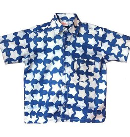 Global Mamas Blue Stars Button Down Shirt