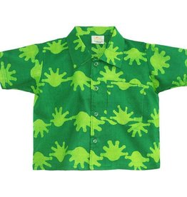 Global Mamas Lime Splat Button Down Shirt