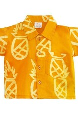 Global Mamas Marigold Pineapple Button Down Shirt