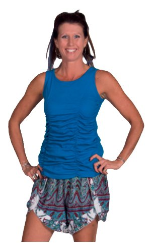 Avatar Imports Cotton Tank Top With Elastic Pleats