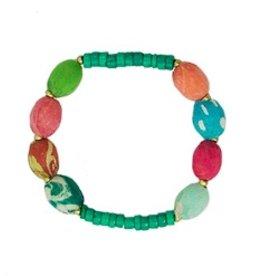WorldFinds Kantha/Turquoise Bracelet