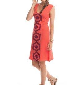 Synergy Hexagon VNeck Dress