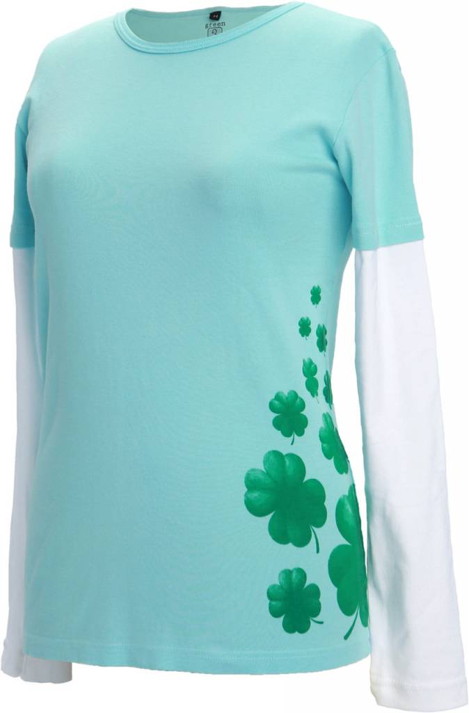 Green 3 Apparel Shamrock to the Side DU