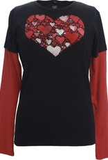 Green 3 Apparel Faceted Heart DU