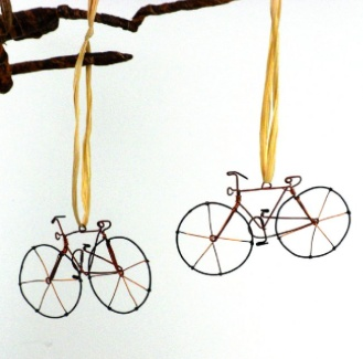 Global Crafts Recycled Bicycle Tree Ornament