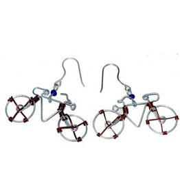 Global Crafts Bicycle Earrings