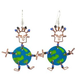 Global Crafts Dancing Girl World Earrings