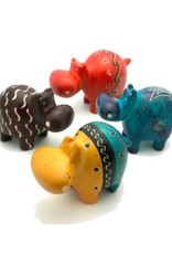 Global Crafts Soapstone Hippo 10 cm