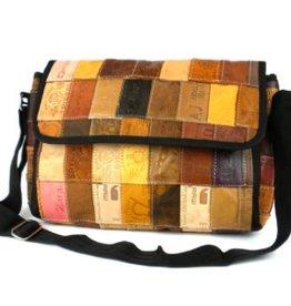 Global Crafts Leather Label Butler Bag
