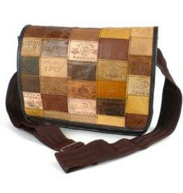 Global Crafts S-Leather Label Messenger Bag