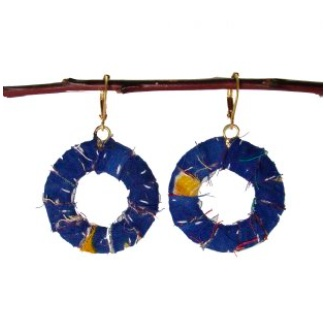 Global Crafts Kantha Small Wrapped Hoop