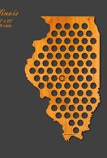 Beer Cap Maps Illinois Map