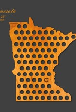 Beer Cap Maps Minnesota Map