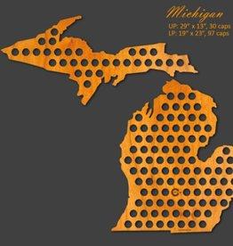 Beer Cap Maps Michigan Beer Cap Map