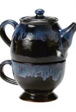 Ten Thousand Villages Teapot w/cup stackable