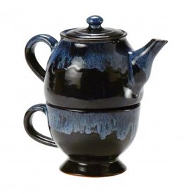 Ten Thousand Villages Teapot w/cup stackable