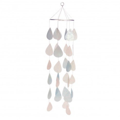 Ten Thousand Villages Raindrop Capiz Chime