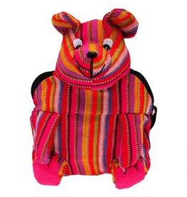 Unique Batik Kids Mini Stuffed Bear Backpack