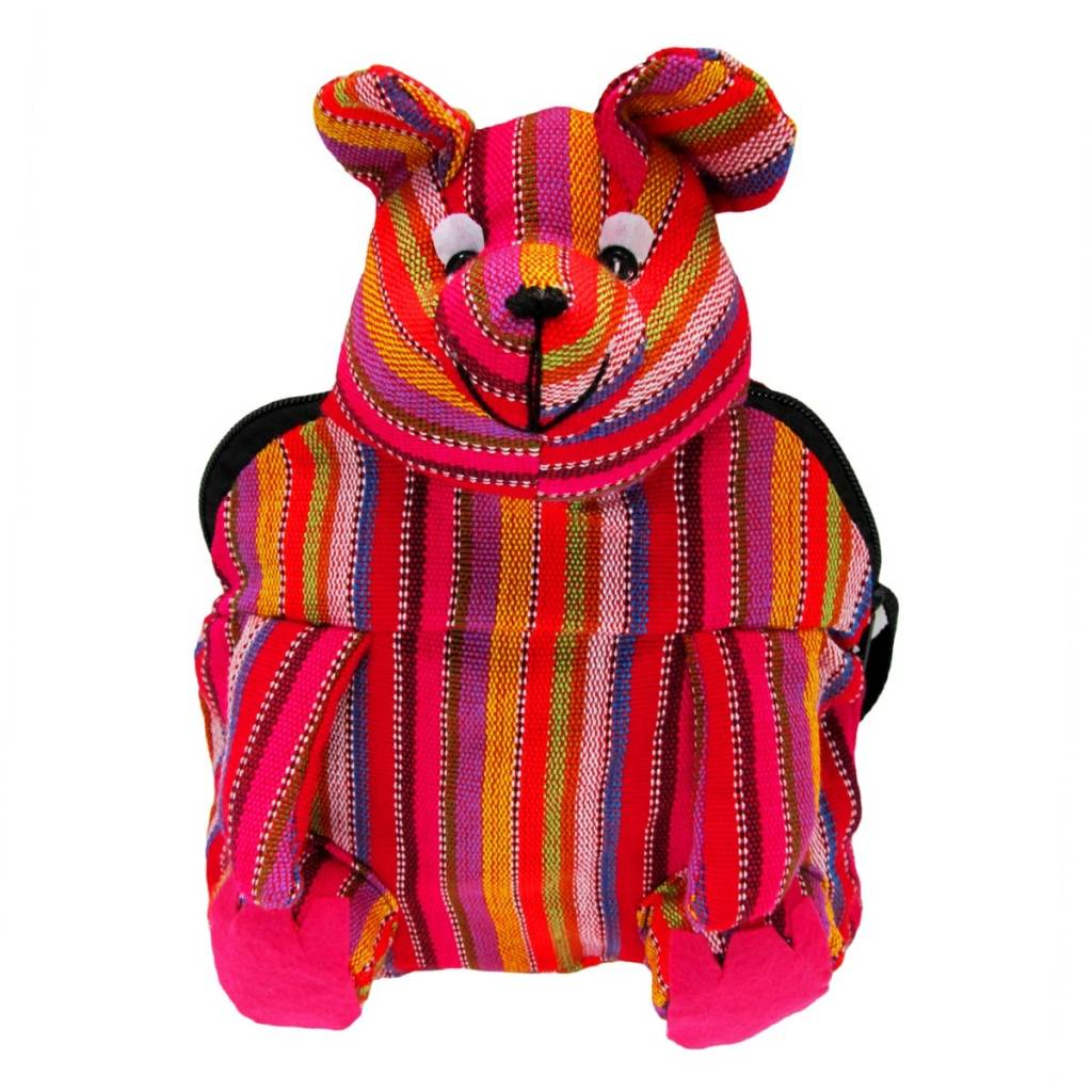 Unique Batik Kids Mini Stuffed Bear Backpack