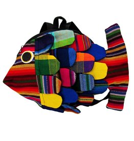 Unique Batik Kids Mini Stuffed Fish Backpack